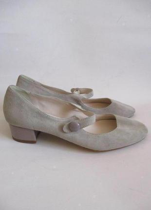Sale - 50%! кожаные туфли из натуральной замши andre, франция