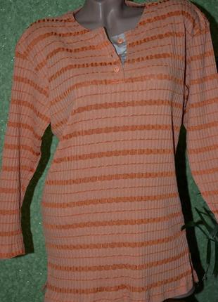 Стильная футболочка , кофточка в полосатый принт