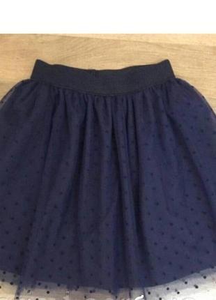 Школьная фатиновая юбочка синего цвета.розпродаж