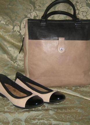 Шикарные кожаные балетки туфли женские 100% натуральная кожа легкие мягкие комфортные