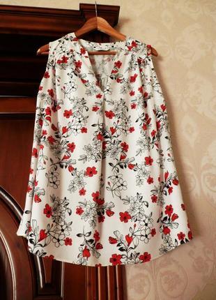 Натуральна блуза топ з квітами evans