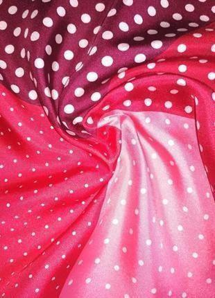 Симпатичный шелковый платок, аксессуар для сумочки или пиджака