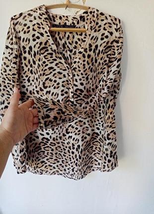 Zara блузка рубашка хлопковая блузка рубашка без воротника