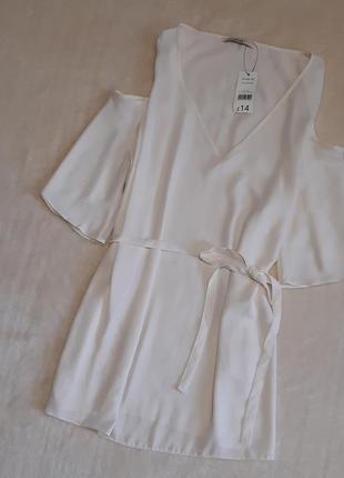 Новая с биркой блуза короткий рукав открытое плечо поясом завязки батал размер 20 george