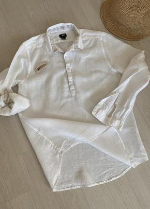 Рубашка льняная , рубашка лён, туника льняная , рубашка оверсайс