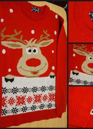 Новогодний свитер l новорічний светр кофта