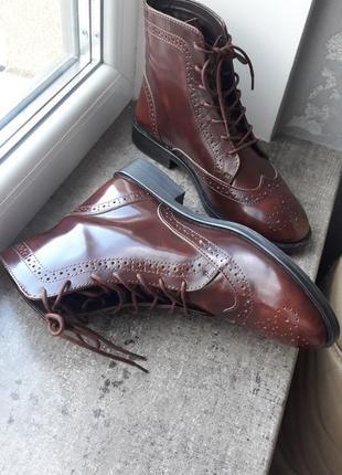 Стильные ботинки asos натуральная кожа