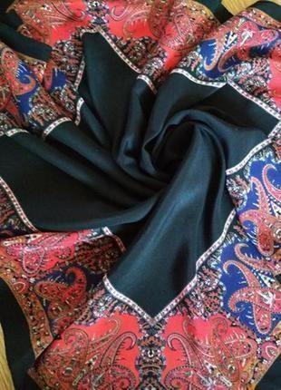 Винтажный шелковый платок, шов роуль