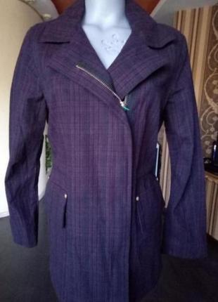 Джинсовая женская куртка в клетку