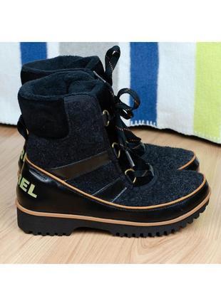 Термоботинки сноубутсы зимние ботинки женские sorel tivoli ii оригинал 37р. 23,5 см.