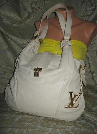 Шикарная большая женская кожаная сумка торба 100% натуральная кожа