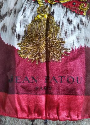 Jean patou шикарный шелковый платок