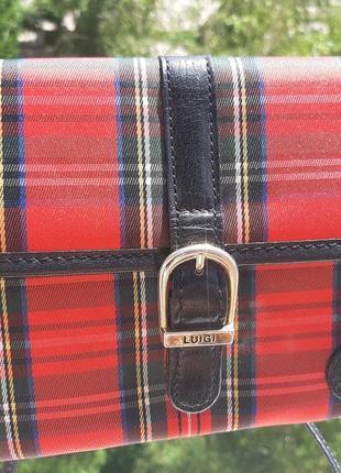 Трендовая сумочка в актуальную клетку на длинной ручке кросбоди