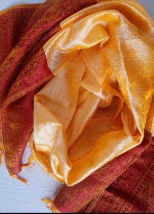 Индийский шарф палантин ручной работы