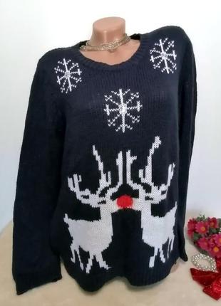Мягенький женский свитер с оленями🦌🦌