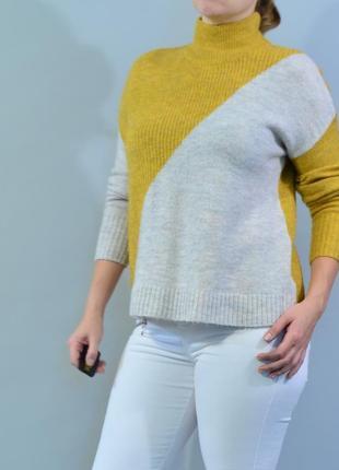 4456\50 горчичный свитер с хомутом principles l