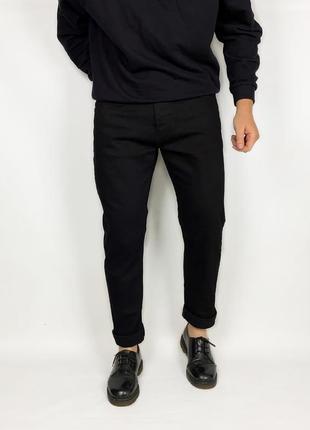Topman slim мужские чёрные зауженные джинсы