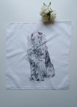 Нежный батист, носовой платочек собачка, роуль