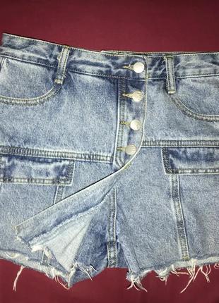 Шорты джинсовые юбка джинсовая шорты-юбка