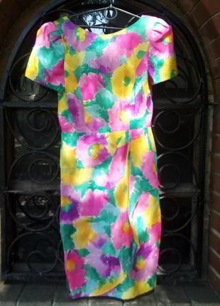 Яркое винтажное платье morton myles
