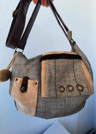 Carpisa стильная текстильная сумка