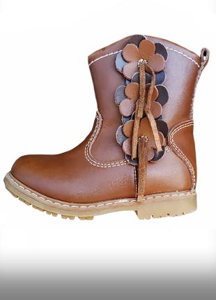 Кожа ботинки сапожки на молнии jones 5 uk eur 22 стелька 13,5 см