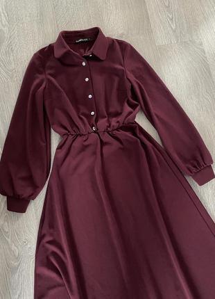 Платье marsala