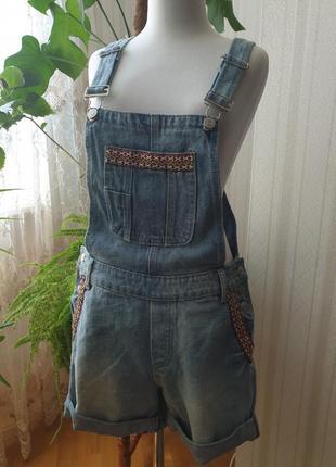Новые брендовые джинсовые шорты комбинезон jcl paris  размер m франция