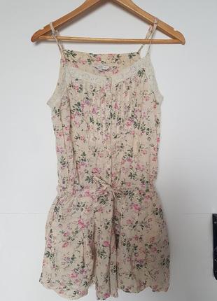 Sale стильный комбез с шортами в цветочный принт 🖤 new look 🖤