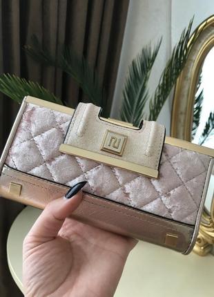 Кошелёк клатч золотой сумка