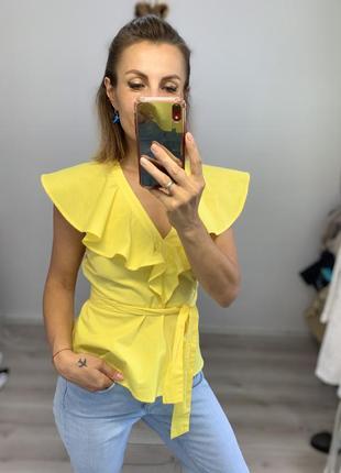 Красивая новая хлопковая блузка asos короткий рукав