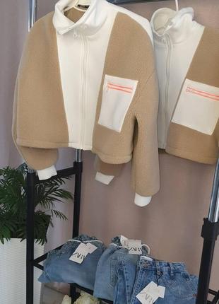 Куртка барашек zara