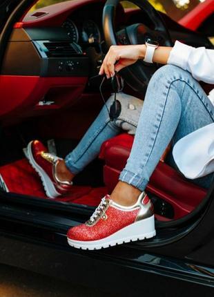 Стильные кроссовки style fог shoes red