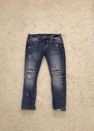 Zara men мужские рваные джинсы оригинал
