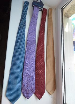 4 галстуки за 220 грн+бесплатная доставка. 100% шелк до 10.08