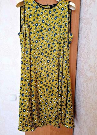 Трендовое платье-сарафан в леопардовый принт от zara, р. м-л