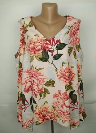 Блуза красивая цветочная шикарная большой размер george uk 18/46/xxl