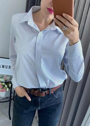 Стильна сорочка, рубашка в полоску