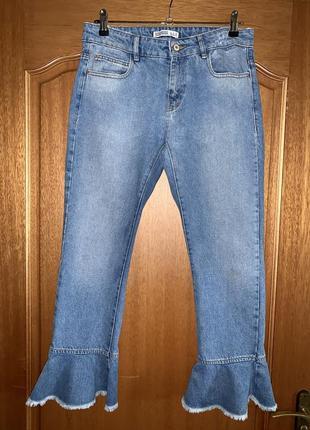 Классные джинсы 👖 denim от zara джинсы мом 💯 % катон джинсы кюлоты высокая посадка
