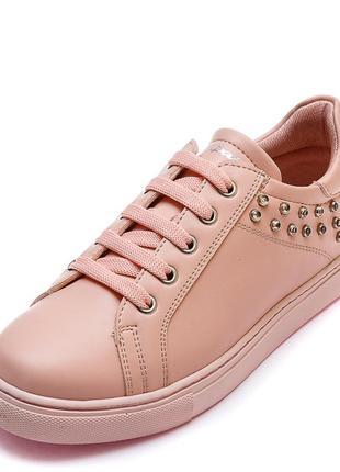 Кожаные кроссовки для девочки pafi 10719320 розовые
