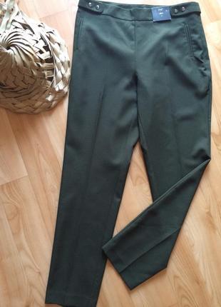 Летние легкие брюки цвета оливы 🌳 слим slim