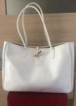 Longchamp roseau bag большая сумка тоут натуральная кожа