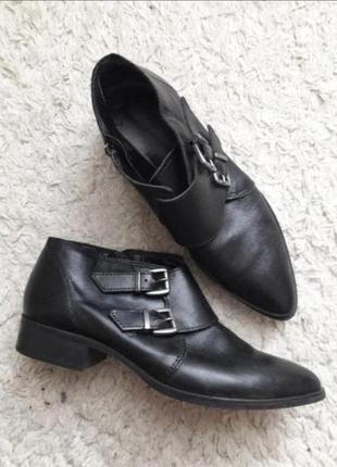 Туфли кожа ботильоны
