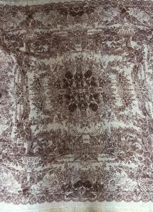 Большой платок шерсть шелк 126*130