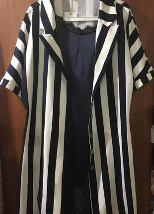 Платье в бельевом стиле+удлиненный пиджак турция