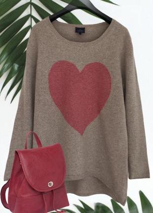Удлиненный ♥️♥️♥️кашемировый джемпер свитер cashmere hemisphere.