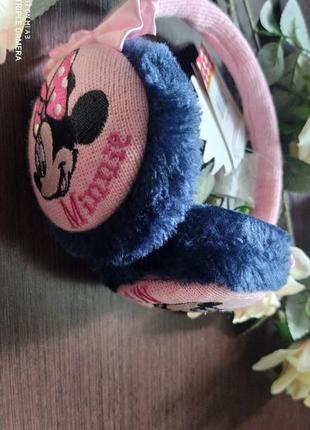 Disney наушники теплые демисезонные минни маус