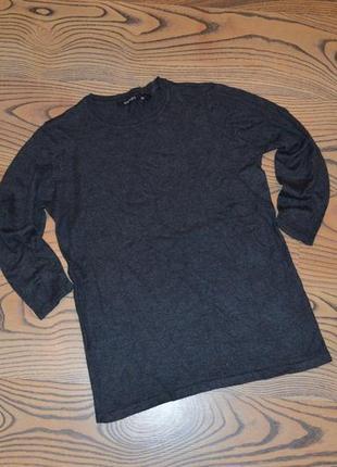 Женская темно-серая кофта, свитер рукав 3/4 esmara xs
