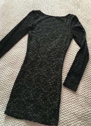 Выпускное платье кружевное  zara с открытой спиной