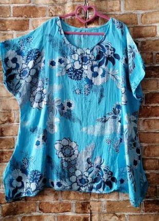 Натуральная блуза туника в стиле бохо